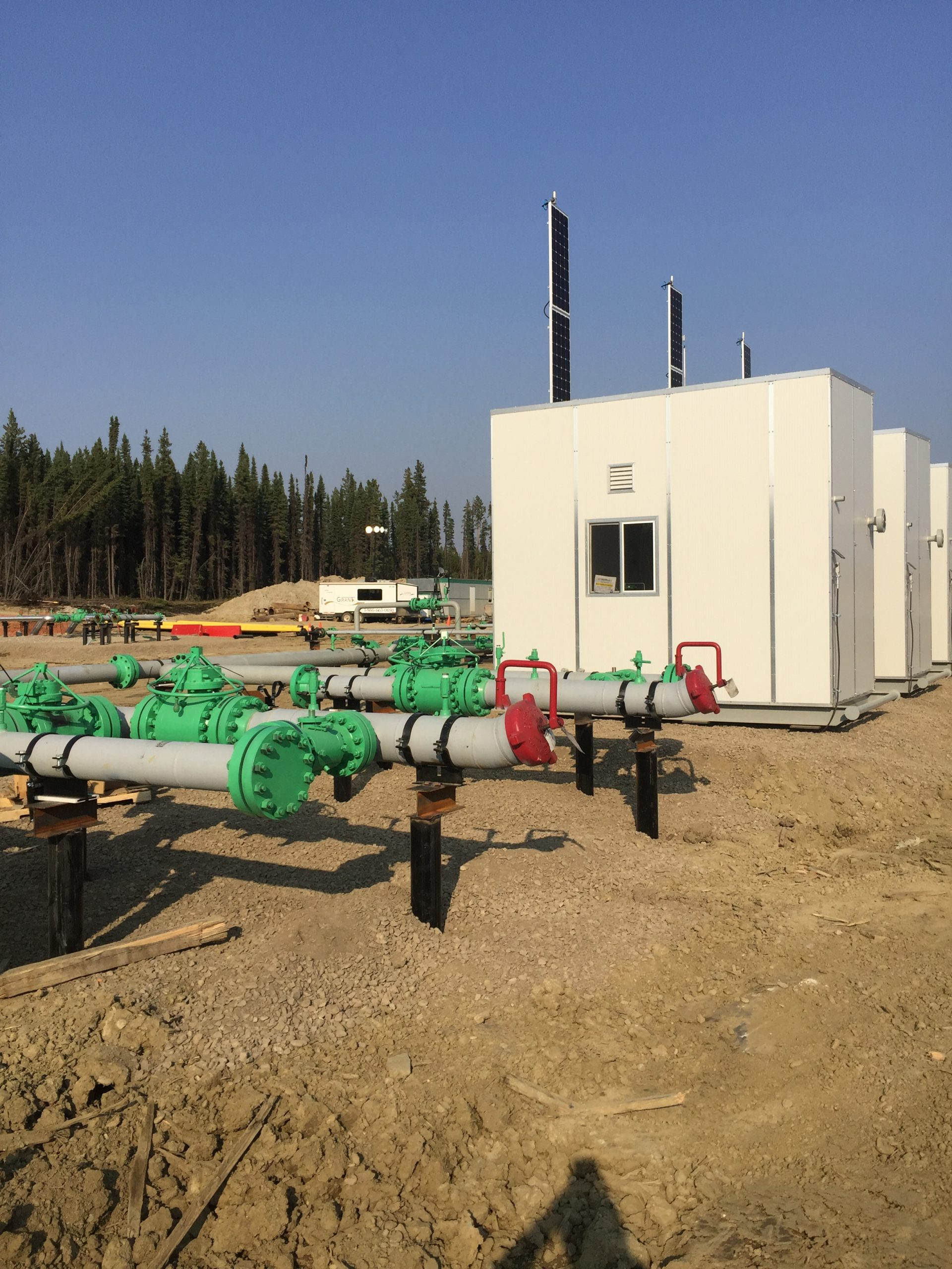 Facility Project, Newly installed piping and buildings