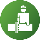 Complete Projects Worker Icon